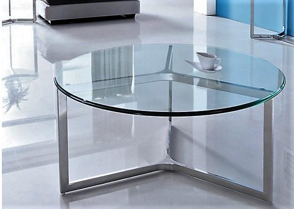 Niesamowite Okrągły stolik kawowy ze szkła i stali 85x85x39 Sklep internetowy TZ56