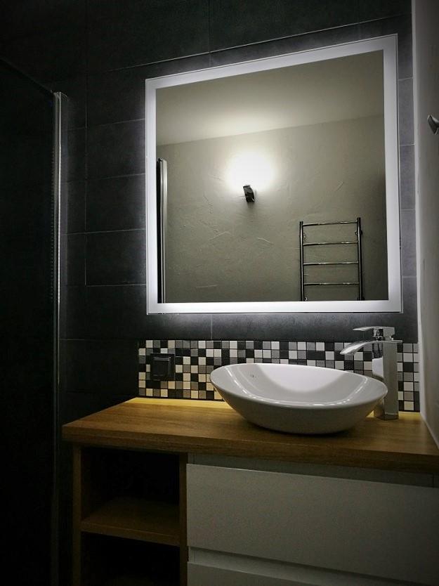 Lustro Do łazienki Led 70x100