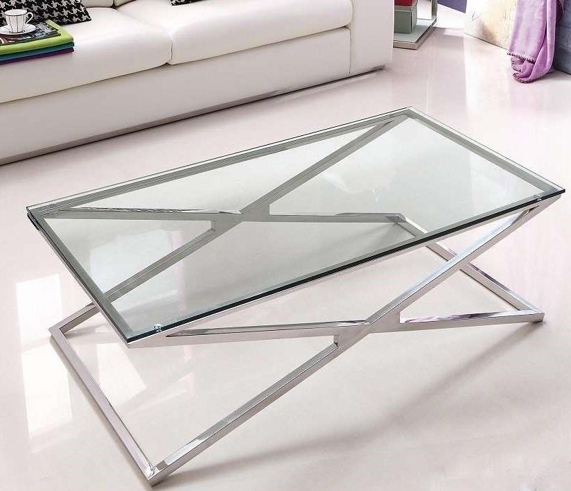 Szklany Stolik Kawowy 130x70x40